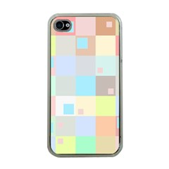 Pastel Diamonds Background Apple Iphone 4 Case (clear)
