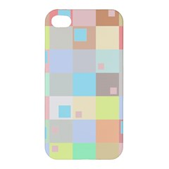 Pastel Diamonds Background Apple Iphone 4/4s Hardshell Case by Nexatart
