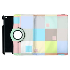 Pastel Diamonds Background Apple Ipad 2 Flip 360 Case by Nexatart