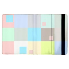 Pastel Diamonds Background Apple Ipad Pro 12 9   Flip Case by Nexatart