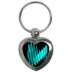 Wave Pattern Vector Design Key Chains (heart)  by Nexatart