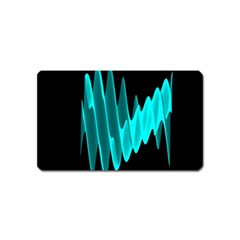 Wave Pattern Vector Design Magnet (name Card) by Nexatart