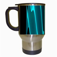 Wave Pattern Vector Design Travel Mugs (white)