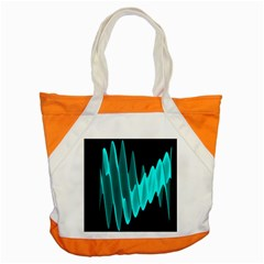 Wave Pattern Vector Design Accent Tote Bag by Nexatart