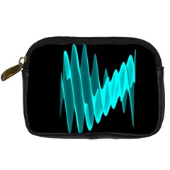 Wave Pattern Vector Design Digital Camera Cases by Nexatart