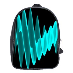 Wave Pattern Vector Design School Bags(large)