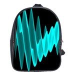 Wave Pattern Vector Design School Bags(Large)  Front