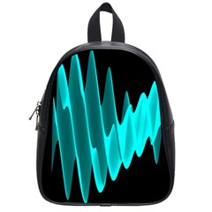 Wave Pattern Vector Design School Bags (small)