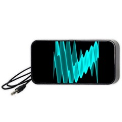 Wave Pattern Vector Design Portable Speaker (black)