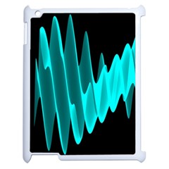 Wave Pattern Vector Design Apple Ipad 2 Case (white) by Nexatart