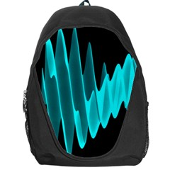 Wave Pattern Vector Design Backpack Bag by Nexatart
