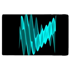 Wave Pattern Vector Design Apple Ipad 2 Flip Case by Nexatart
