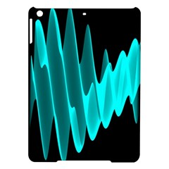 Wave Pattern Vector Design Ipad Air Hardshell Cases by Nexatart
