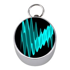 Wave Pattern Vector Design Mini Silver Compasses by Nexatart