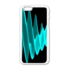 Wave Pattern Vector Design Apple Iphone 6/6s White Enamel Case by Nexatart