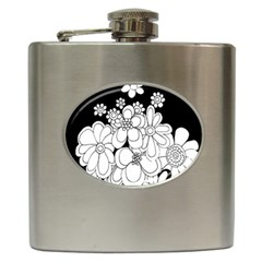 Mandala Calming Coloring Page Hip Flask (6 Oz) by Nexatart