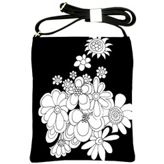 Mandala Calming Coloring Page Shoulder Sling Bags by Nexatart
