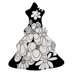 Mandala Calming Coloring Page Christmas Tree Ornament (two Sides) by Nexatart
