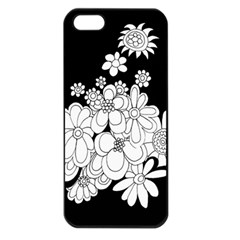 Mandala Calming Coloring Page Apple Iphone 5 Seamless Case (black) by Nexatart