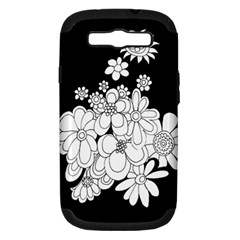 Mandala Calming Coloring Page Samsung Galaxy S Iii Hardshell Case (pc+silicone) by Nexatart