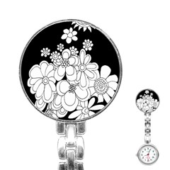 Mandala Calming Coloring Page Stainless Steel Nurses Watch by Nexatart