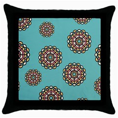 Circle Vector Background Abstract Throw Pillow Case (black) by Nexatart
