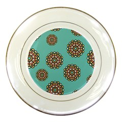 Circle Vector Background Abstract Porcelain Plates by Nexatart