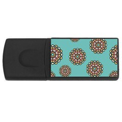 Circle Vector Background Abstract Usb Flash Drive Rectangular (4 Gb) by Nexatart