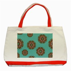 Circle Vector Background Abstract Classic Tote Bag (red)