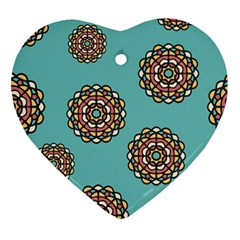 Circle Vector Background Abstract Heart Ornament (two Sides) by Nexatart
