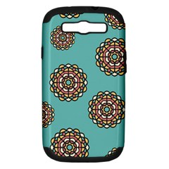 Circle Vector Background Abstract Samsung Galaxy S Iii Hardshell Case (pc+silicone)