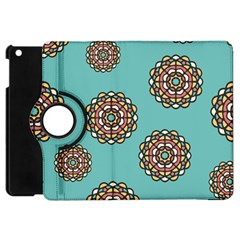 Circle Vector Background Abstract Apple Ipad Mini Flip 360 Case
