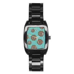 Circle Vector Background Abstract Stainless Steel Barrel Watch