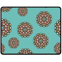 Circle Vector Background Abstract Double Sided Fleece Blanket (medium)