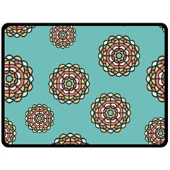 Circle Vector Background Abstract Double Sided Fleece Blanket (large)