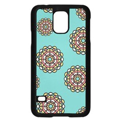 Circle Vector Background Abstract Samsung Galaxy S5 Case (black)
