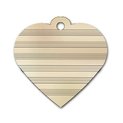 Notenblatt Paper Music Old Yellow Dog Tag Heart (one Side) by Nexatart