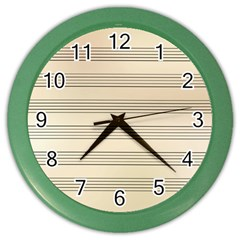 Notenblatt Paper Music Old Yellow Color Wall Clocks