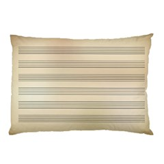 Notenblatt Paper Music Old Yellow Pillow Case (two Sides) by Nexatart