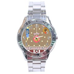 Art Background Background Vector Stainless Steel Analogue Watch by Nexatart