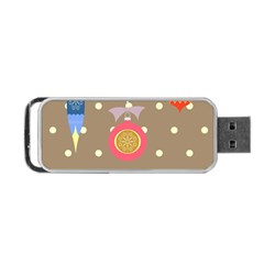 Art Background Background Vector Portable Usb Flash (two Sides) by Nexatart
