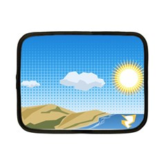 Grid Sky Course Texture Sun Netbook Case (small)  by Nexatart