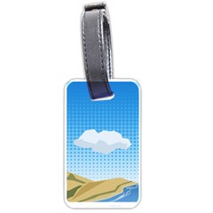 Grid Sky Course Texture Sun Luggage Tags (one Side)  by Nexatart