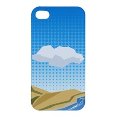 Grid Sky Course Texture Sun Apple Iphone 4/4s Premium Hardshell Case