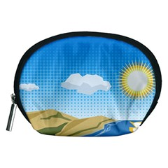 Grid Sky Course Texture Sun Accessory Pouches (medium)  by Nexatart