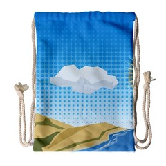 Grid Sky Course Texture Sun Drawstring Bag (large) by Nexatart