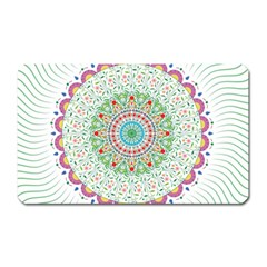 Flower Abstract Floral Magnet (rectangular)