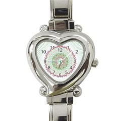 Flower Abstract Floral Heart Italian Charm Watch by Nexatart