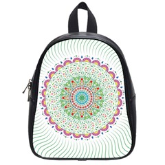 Flower Abstract Floral School Bags (small)  by Nexatart