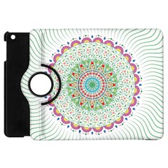 Flower Abstract Floral Apple Ipad Mini Flip 360 Case